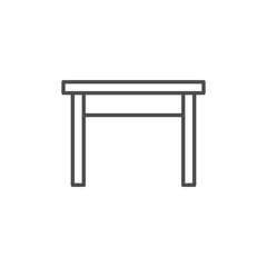 Kitchen table line icon