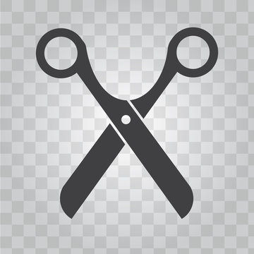 Scissors vector icon for barber shop symbol. Solid and flat color design vector.