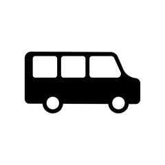 Minibus icon vector icon. Simple element illustration. Minibus symbol design. Can be used for web and mobile.