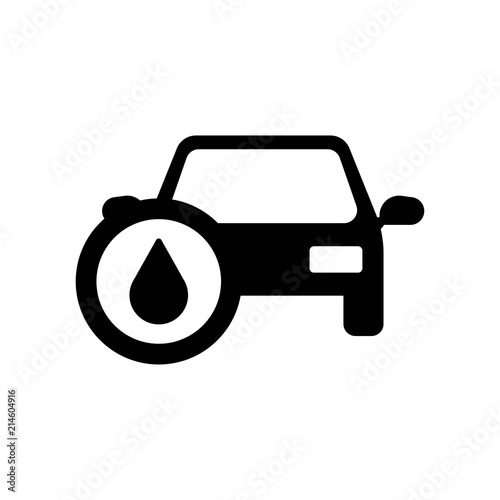 Car With Oil Sign Icon Vector Icon Simple Element Illustration Car