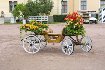 Imperial bouquet festival in Pavlovsky park, Pavlovsk, St. Petersburg, Russia