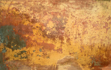 Texture of old rusty metal. Mockup. Background Wall mural