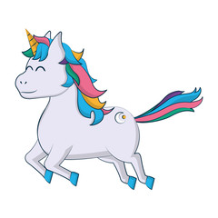 cute unicorn with arrow tattoo style