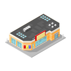 Isometric Vector Store Business Icon.