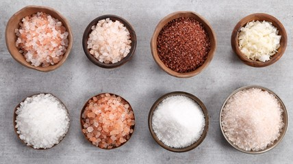 Canvas Prints Spices Different varieties of table salt.