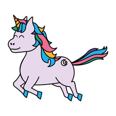 color cute unicorn with arrow tattoo style