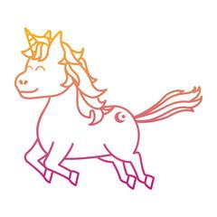 degraded line cute unicorn with arrow tattoo style