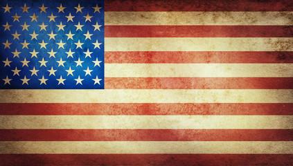 Old grunge vintage American US national flag