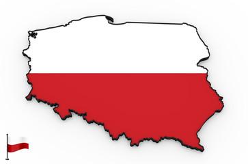 Poland high detailed 3D map