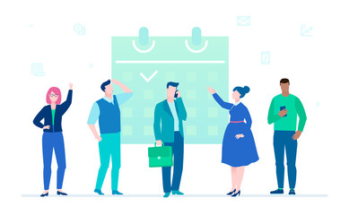 Business process - flat design style illustration