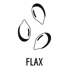 Flax icon. Simple illustration of flax vector icon for web design isolated on white background