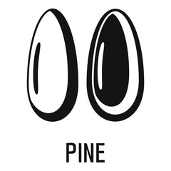 Pine icon. Simple illustration of pine vector icon for web design isolated on white background