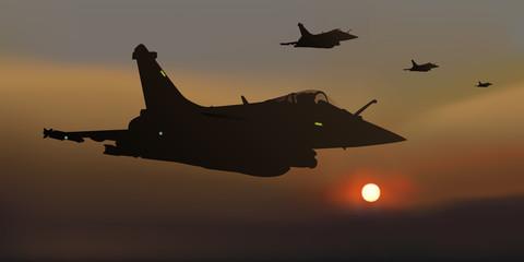 avion de chasse - guerre - escadrille - mirage 2000 - combat aérien - avion - militaire - opération