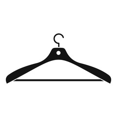 Clothes hanger icon. Simple illustration of clothes hanger vector icon for web design isolated on white background