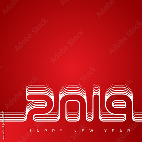 happy new year 2019 the cover of the calendar creative greeting card design template