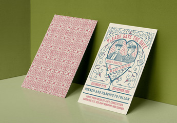 Vintage Wedding Invitation Layout