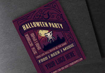 Dark Halloween Party Flyer Layout