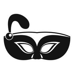 Night mask carnival icon. Simple illustration of night mask carnival vector icon for web design isolated on white background