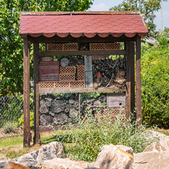 Hotel for bees and other insects