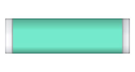 Fresh gum stick mockup. Realistic illustration of fresh gum stick vector mockup for web design isolated on white background
