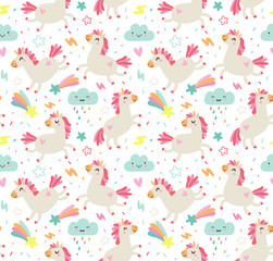 Sweet pattern with unicorns
