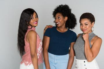 Three African American Friends
