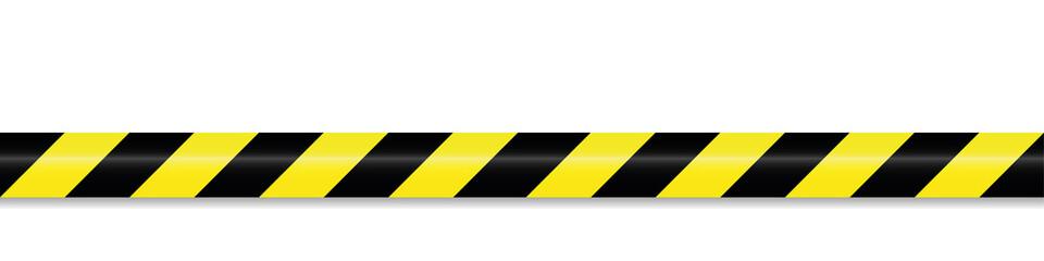 schwarz gelbes absperrband