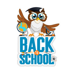 school background with owl