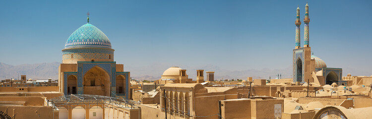Poster Middle East Yazd Iran panorama