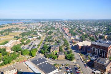 City of Buffalo, viewed from Buffalo City Hall, New York, USA.