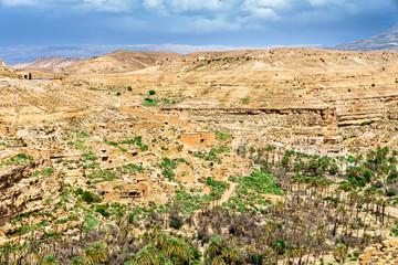 Foto op Aluminium Algerije Panorama of Ghoufi Canyon in Algeria