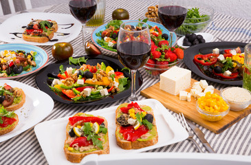 Variety of vegetarian dishes