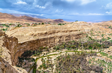 Wall Murals Algeria Panorama of Ghoufi Canyon in Algeria