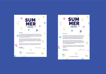 Colorful Geometric Letterhead Layout