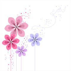 vector background with Flower