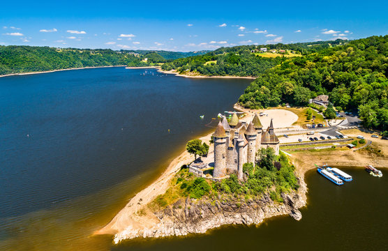 The Chateau de Val, a medieval castle on a bank of the Dordogne in France