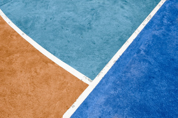 white lines on sports court -  sport background