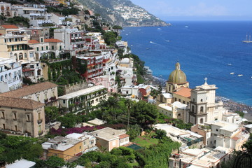 Panoramic view of Positano, Italy