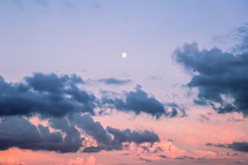 The moon in the sky.Beautiful sky