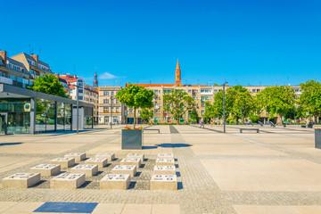 Obraz Nowy targ square in central Wroclaw, Poland - fototapety do salonu