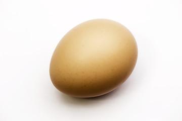 Chicken brown eggs on background