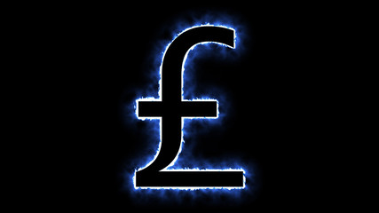 Flaming pound sign background