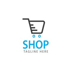 Shop Logo Vector Template Design Illustration