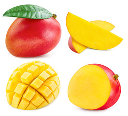 Mango collection isolated Clipping Path