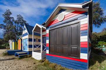 Red White and Blue Hut