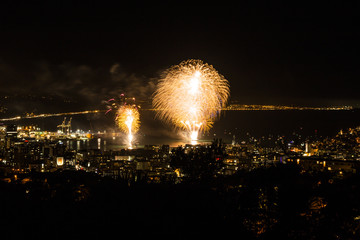 Matariki fireworks in Wellington, New Zealand