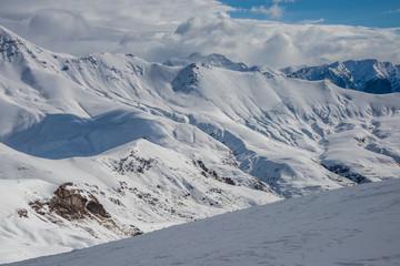 Mountains from Cerler winter resort. Spain.