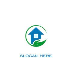 home care logo, vector icon.