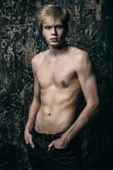 fair-haired naked man