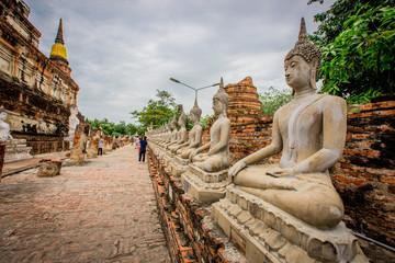 Ayutthaya: July 8, 2018, tChaimongkol Phra Nakhon Si Ayutthaya Province ,thailand.
